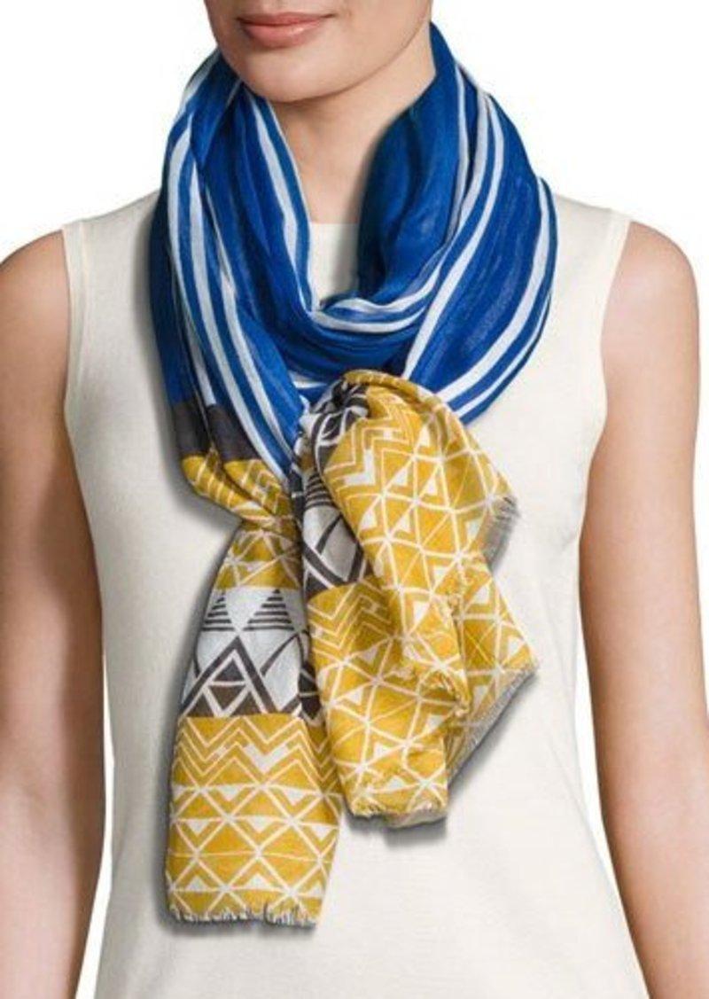 Neiman Marcus Geometric-Print Wrap Scarf