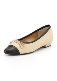 Neiman Marcus Gretchen Pointed-Toe Flat