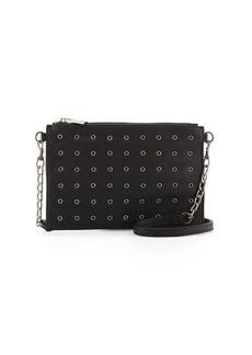 Neiman Marcus Grommet Faux-Leather Crossbody Bag