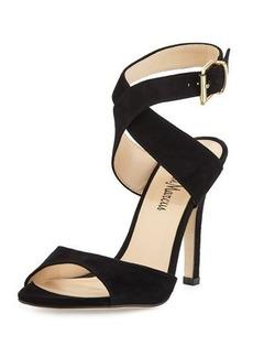 Neiman Marcus Hadara Suede Crisscross Sandal