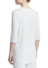 Neiman Marcus Half-Sleeve Combo Top