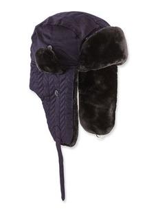Neiman Marcus Herringbone-Quilted Faux-Fur Trapper Hat