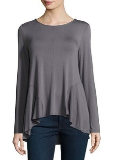 Neiman Marcus High-Low Long-Sleeve Tee