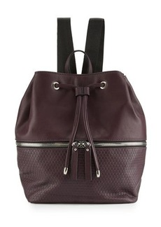 Neiman Marcus Honeycomb Bucket Backpack