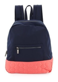 Neiman Marcus Honeycomb Colorblock Neoprene Backpack