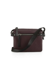 Neiman Marcus Honeycomb Faux-Leather Crossbody Bag