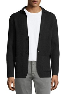 Neiman Marcus Honeycomb Knit Blazer