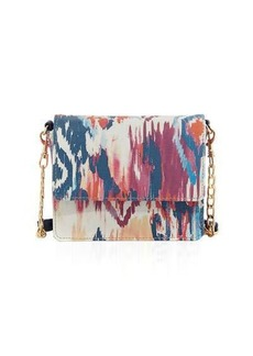 Neiman Marcus Ikat-Print Mini Box Crossbody Bag