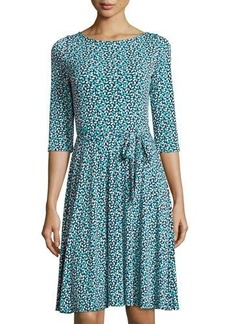 Neiman Marcus Ilana Floral-Print A-Line Dress