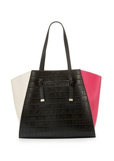 Neiman Marcus Ingrid Tricolor Faux Tote Bag