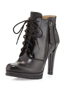 Neiman Marcus Isabelle Lace-Up Bootie