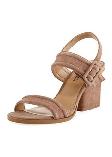 Neiman Marcus Jalissa Suede Strappy Sandal