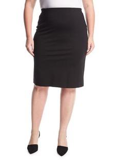 Neiman Marcus Jersey-Knit Pull-On Skirt