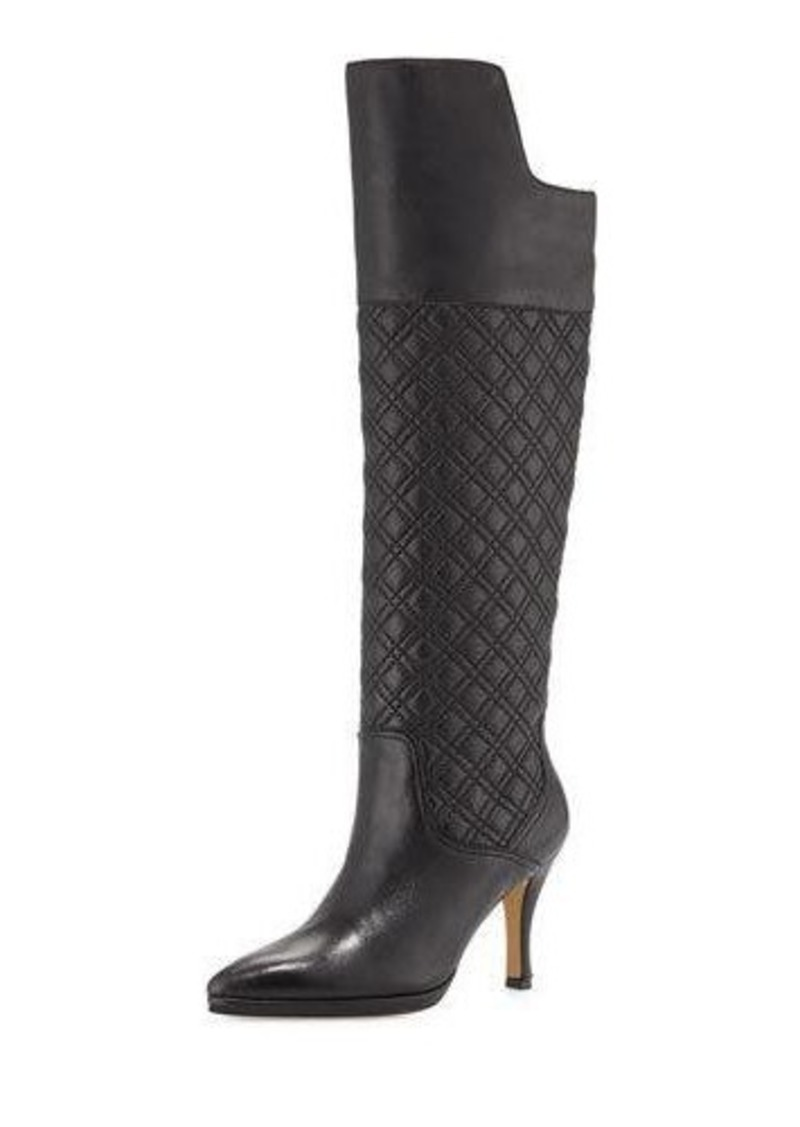 Neiman Marcus Josie Quilted Leather Knee Boot
