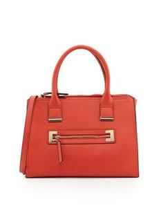 Neiman Marcus Joule Saffiano Boxy Satchel Bag