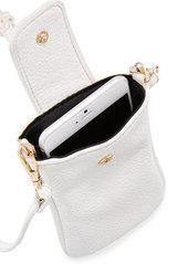 Neiman Marcus Juno Faux-Leather Phone Crossbody Bag