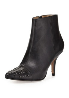 Neiman Marcus Kelcy Studded Leather Bootie