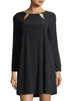 Neiman Marcus Keyhole-Neck Jersey Dress