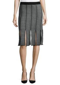 Neiman Marcus Knit Skirt w/ Car Wash Fringe