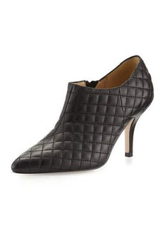 Neiman Marcus Koren Quilted Leather Bootie