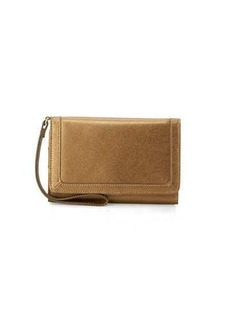 Neiman Marcus Leather Cell Phone Wristlet Wallet