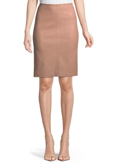 Neiman Marcus Leather Pencil Skirt