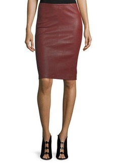 Neiman Marcus Leather Collection Leather Pencil Skirt