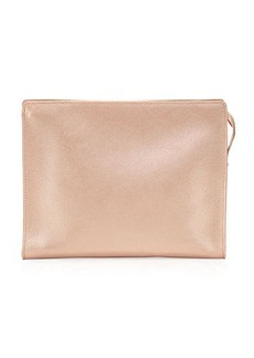 Neiman Marcus Leather Cosmetic Clutch Bag