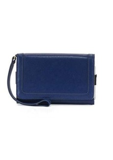 Neiman Marcus Leather Flap Phone Wristlet