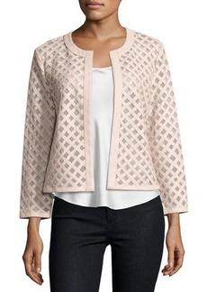 Neiman Marcus Leather Grid Jacket