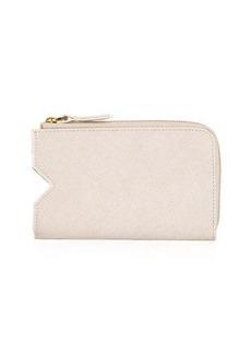 Neiman Marcus Leather Phone Case Zip Wallet