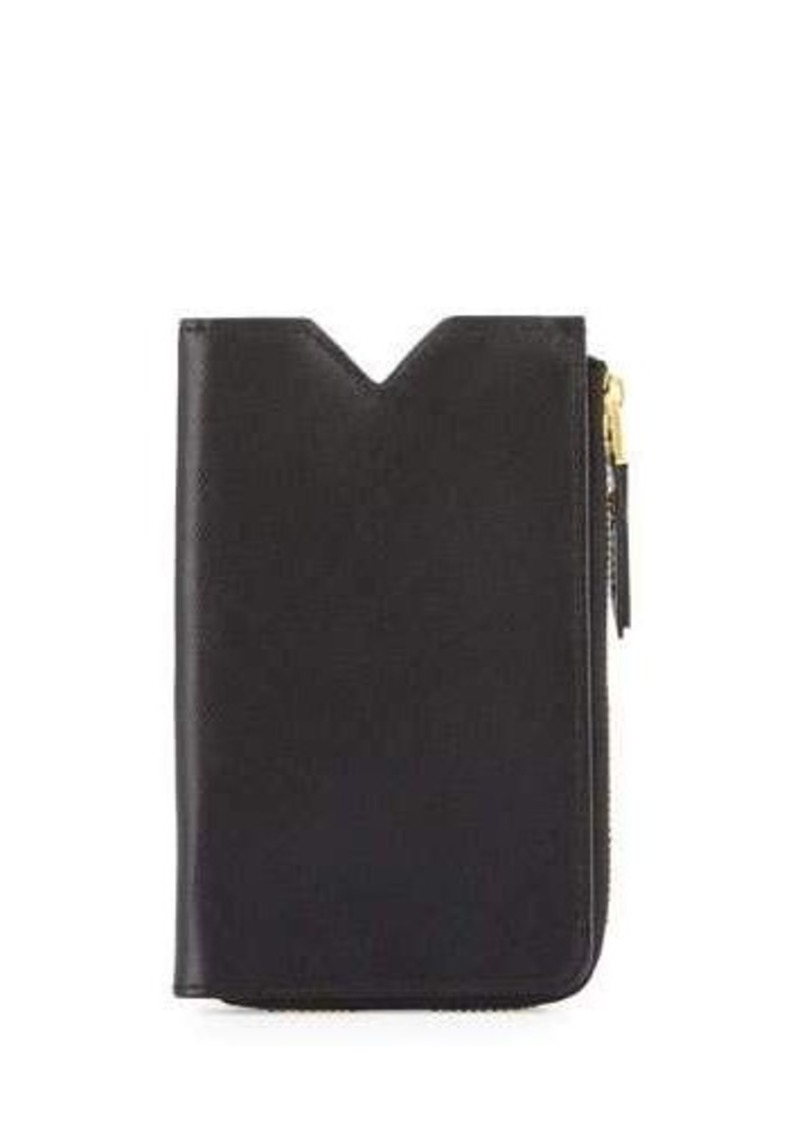 Neiman Marcus Leather Phone Case Zip Wallet