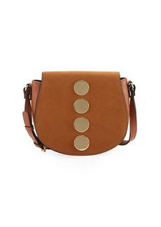 Neiman Marcus Lenora Mixed Dot Saddle Bag