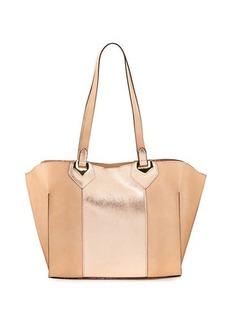 Neiman Marcus Linea Large Metallic Tote Bag