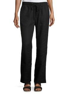 Neiman Marcus Linen Drawstring Pants
