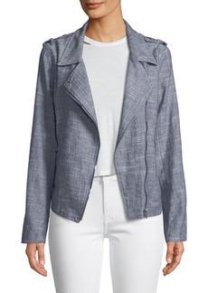 Neiman Marcus Linen Motorcycle Jacket