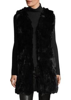 Neiman Marcus Long Rabbit Fur Vest