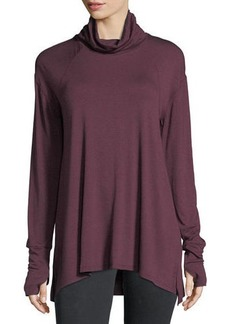 Neiman Marcus Long-Sleeve High-Low Jersey Tunic