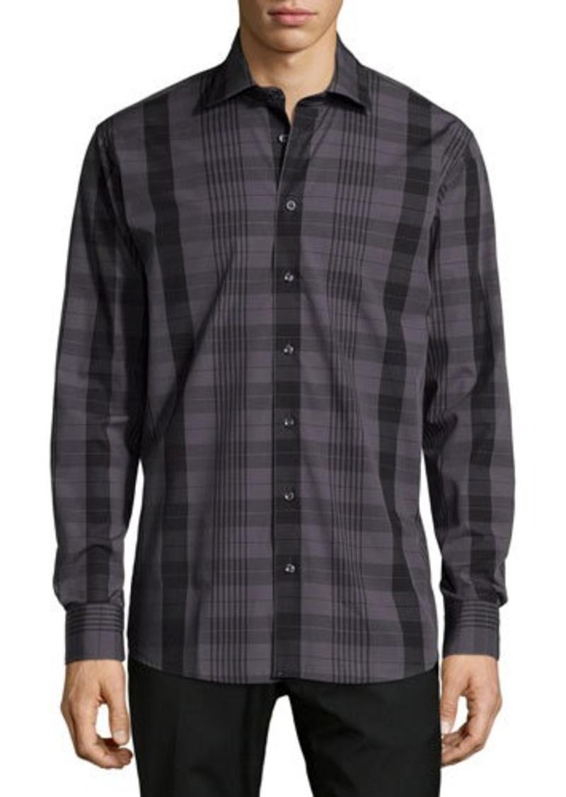 Neiman Marcus Long-Sleeve Plaid Sport Shirt