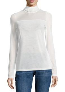 Neiman Marcus Long-Sleeve Turtleneck Top