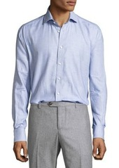 Neiman Marcus Long-Sleeve Woven Sport Shirt