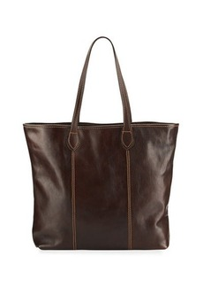 Neiman Marcus Slim Large Leather Tote Bag