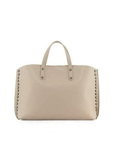 Neiman Marcus Made in Italy Studded Leather East-West Tote Bag