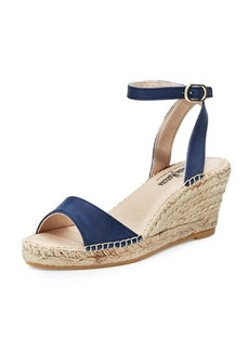 Neiman Marcus Jumana Leather Wedge Sandal
