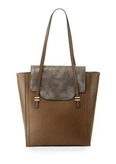 Neiman Marcus Mag Faux-Leather Tote Bag