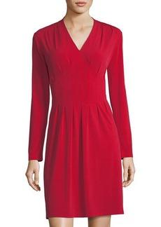 Neiman Marcus Magic-Waist Knit Dress