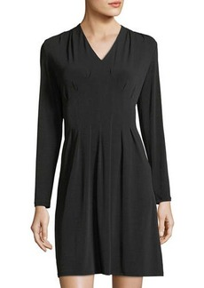 Neiman Marcus Magic-Waist Knit Dress