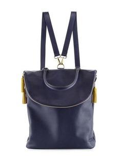 Neiman Marcus Mara Pop Tassel Faux Backpack