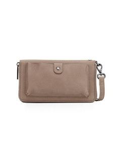 Neiman Marcus Matte Pebbled Phone Wallet