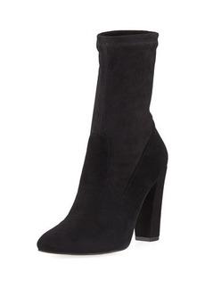 Neiman Marcus May Sock-Suede High Bootie